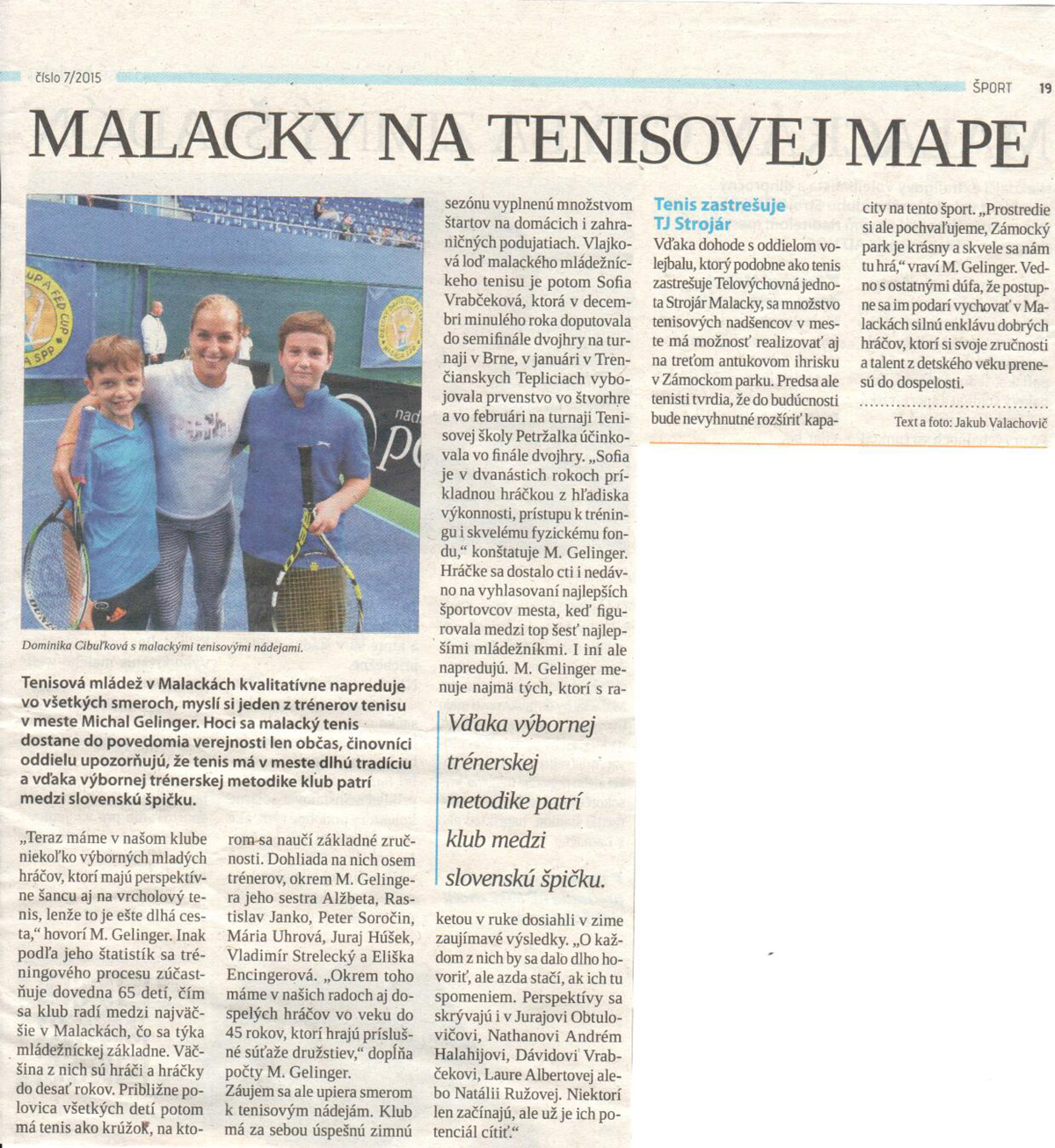 TENIS MALACKY - TJ Strojár c5e21f49b3e